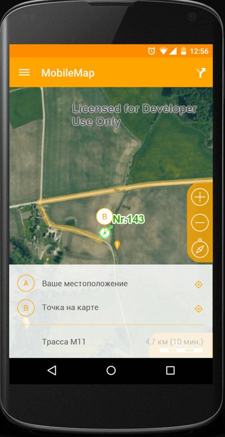 Управление видом карты
