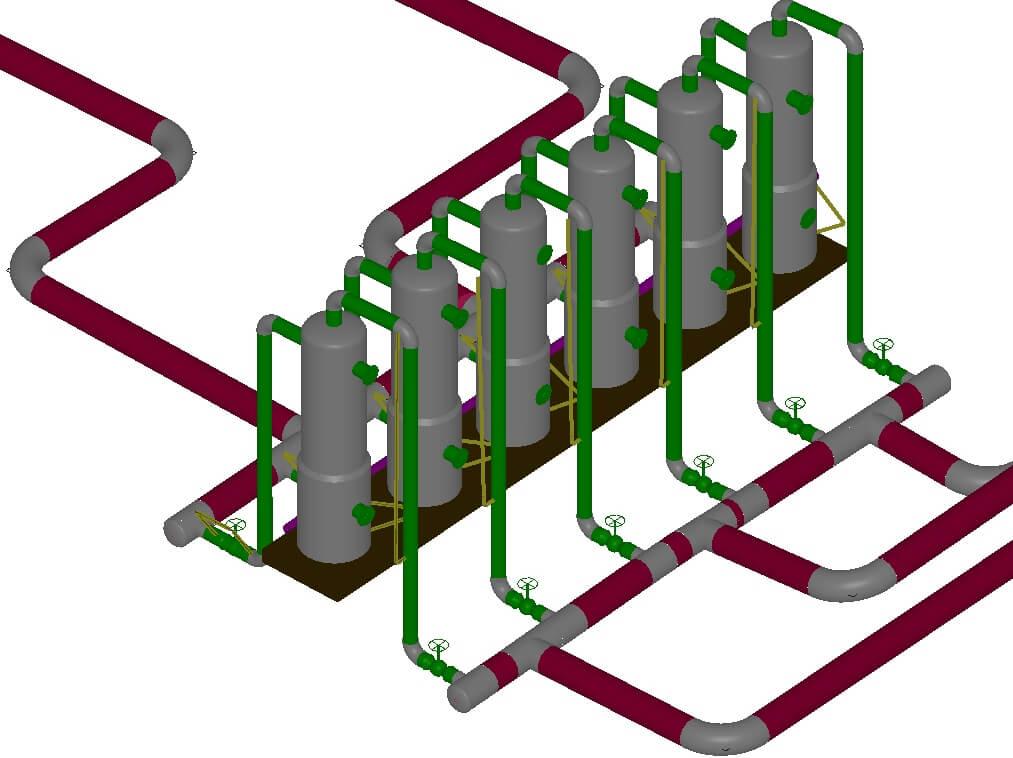 Создание 3D модели инженерных коммуникаций