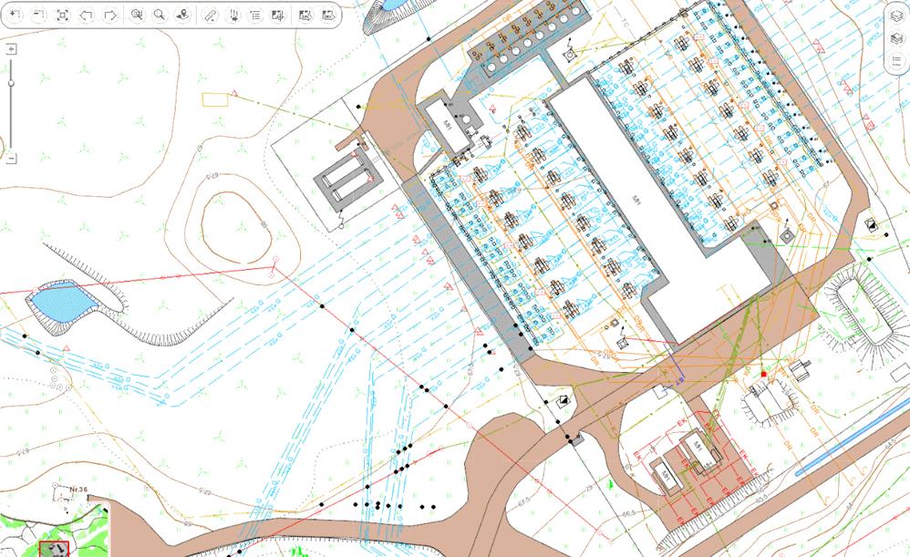 Технологические объекты на карте