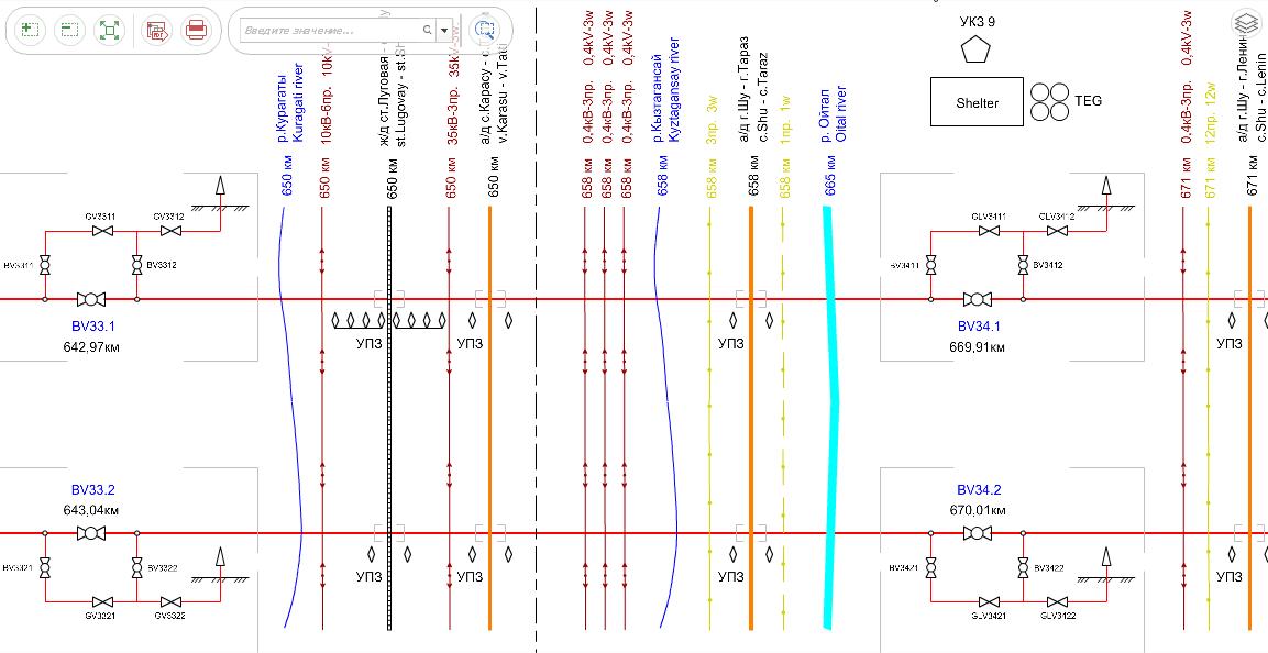 Интерактивная графическая схема