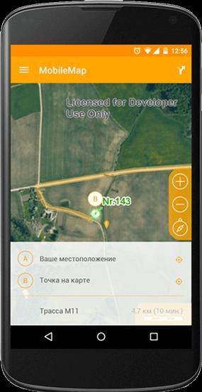 Построение оптимального пути следования на мобильном