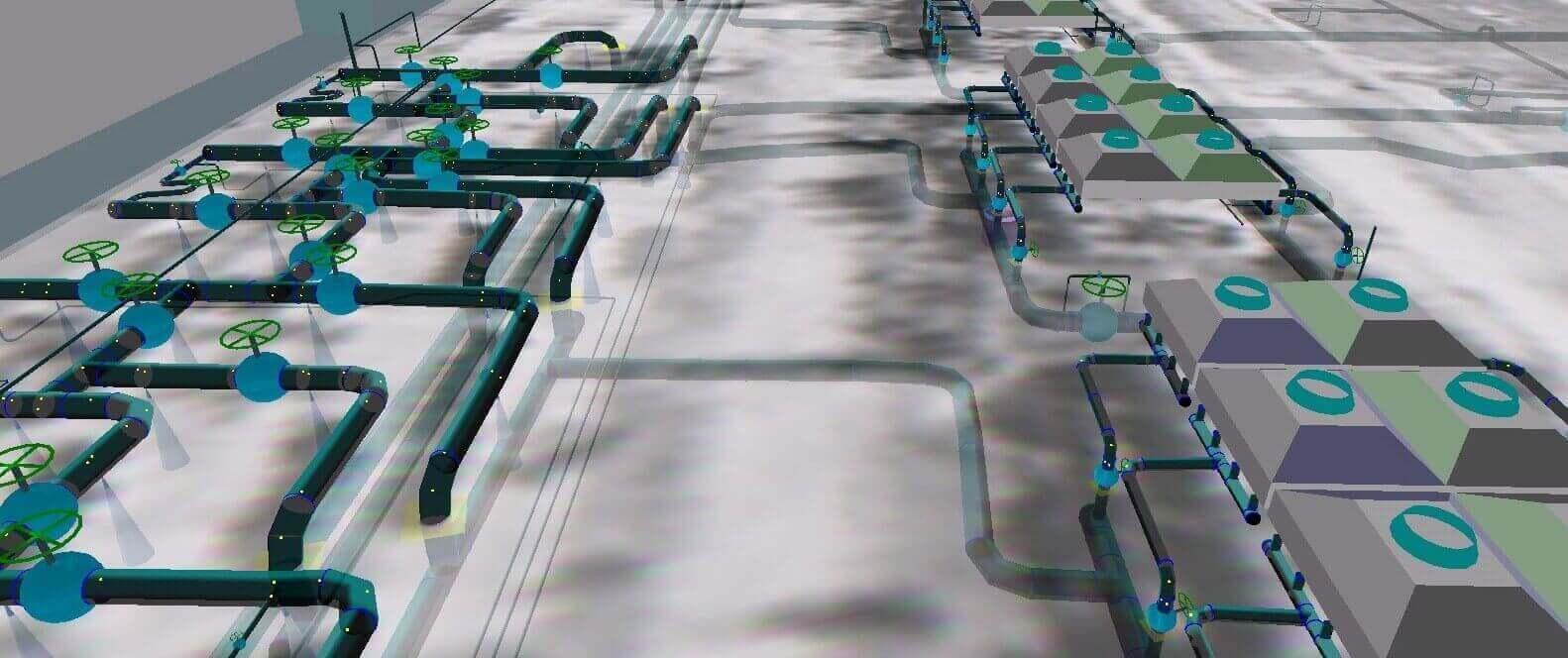 Построение и  визуализация данных на трехмерных  моделях, трехмерная модель промлощадки