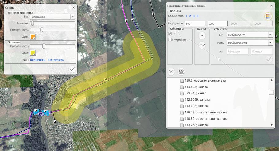 Пространственный анализ территории аварии