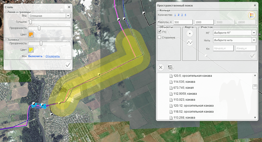 Spatial analysis of the emergency territory