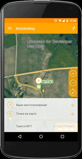 Пространственные данные на мобильном устройстве, построение оптимального пути следования на карте