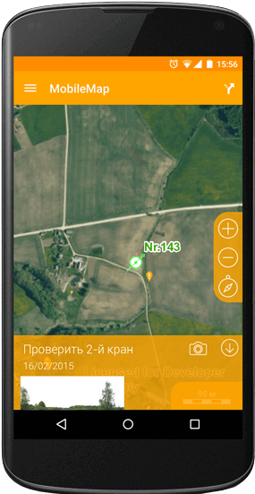 Working with spatial data from a mobile device