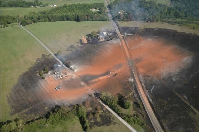 Система управления техническим состоянием и целостностью линейной части МТ, последствия аварии на МТ вследствие утечек и воспламенения газа