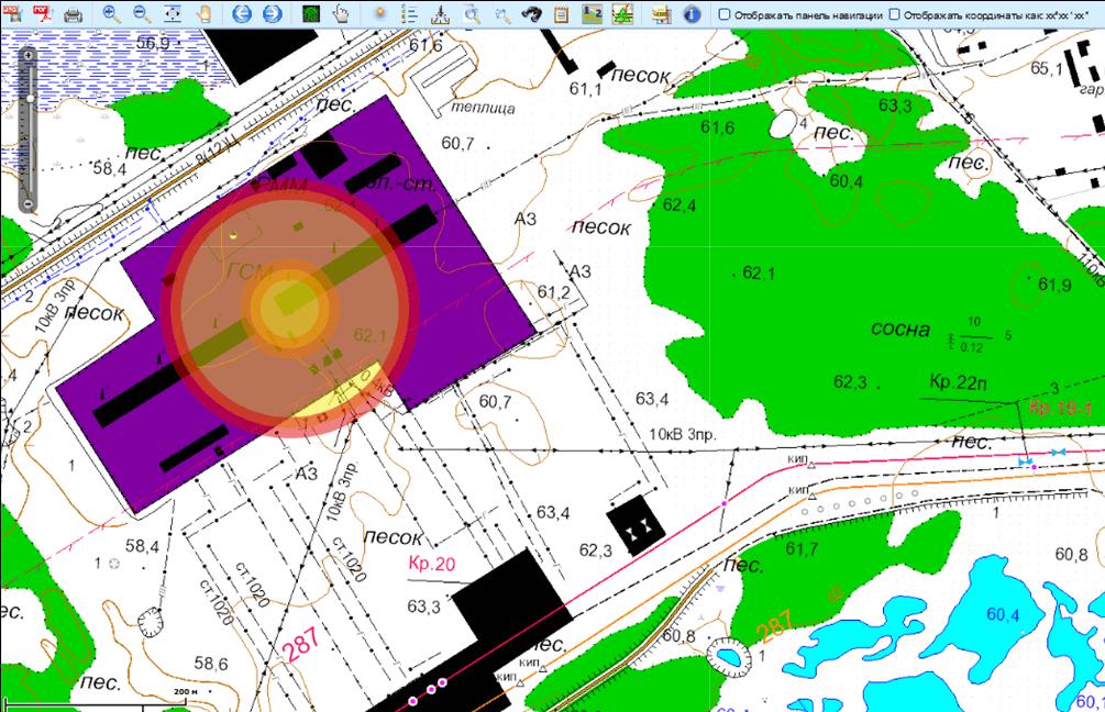 Пространственный анализ при оценке ущерба