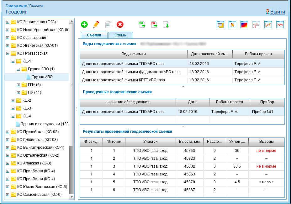 Модуль геодезичного контролю, геодезичне програмне забезпечення