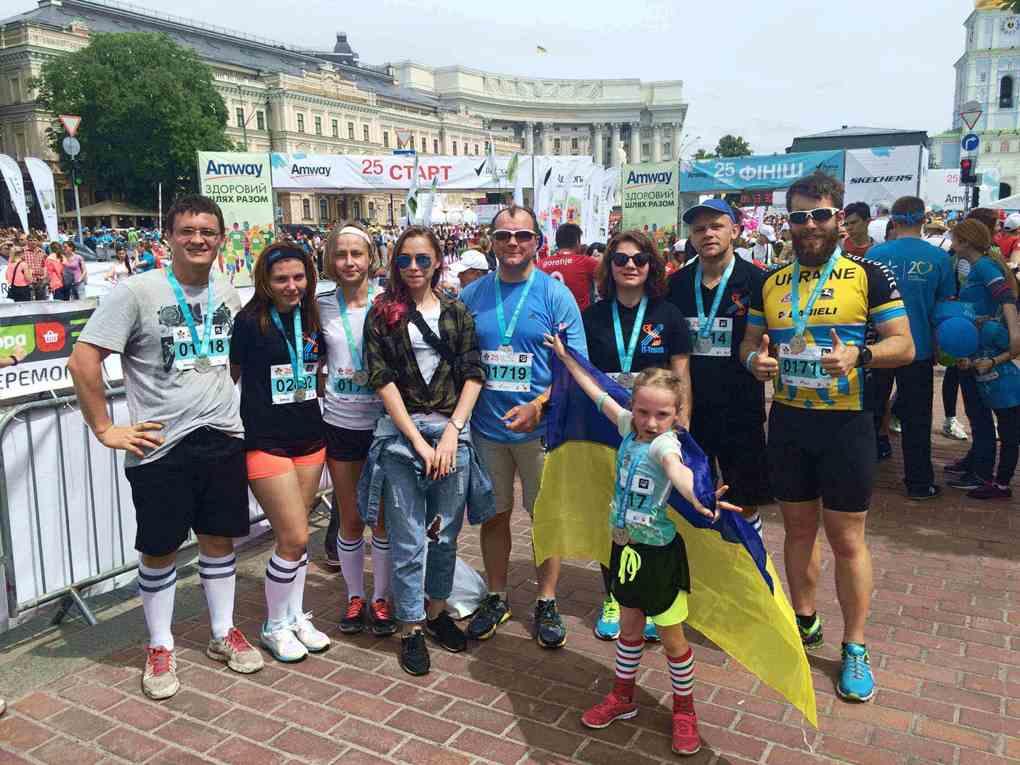 Финиш благотворительного 25 забега.Киев
