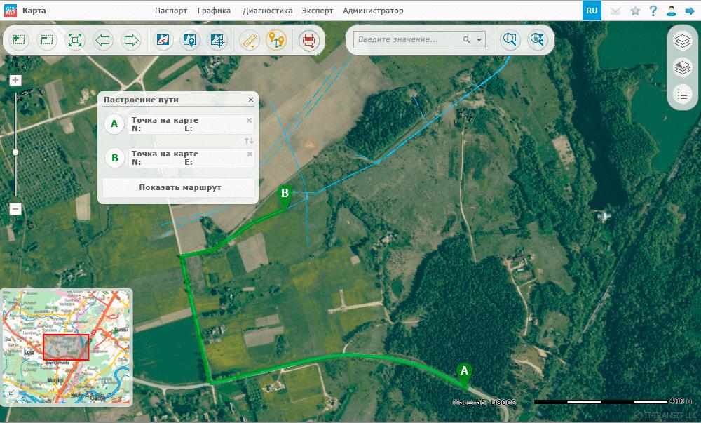Управління просторовими даними, визначення оптимальних шляхів під'їзду до зазначеного пункту