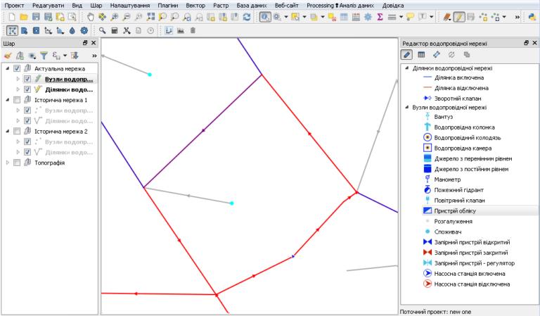 Схема инженерной сети